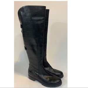 Cole Haan Nike Air OTK black leather boots SZ.10.5